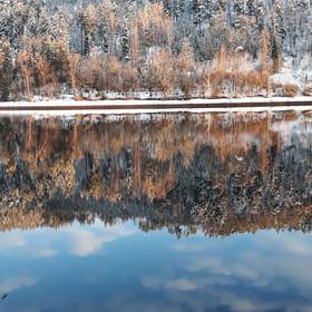 Pohled na Vltavu v zimě