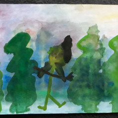 Myslivec v lese