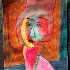 Obraz inspirovaný Modiglianim