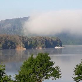 Ranní mlha v Županovicích