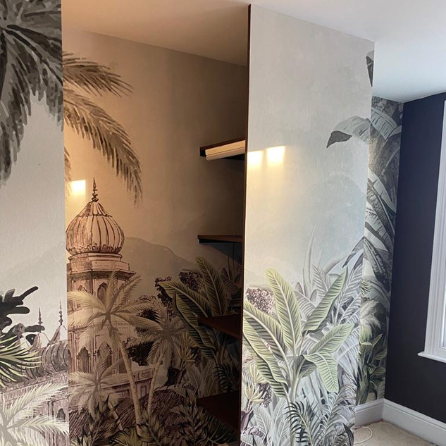 Bedroom custom wallpaper