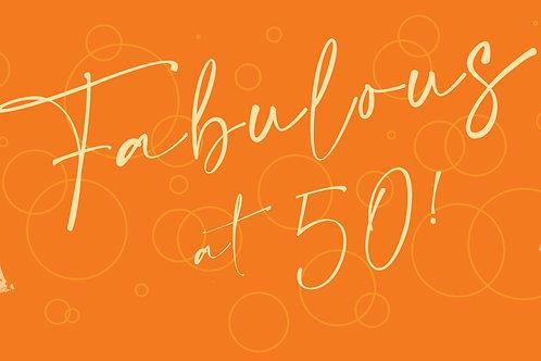Fabulous at 50 choose size
