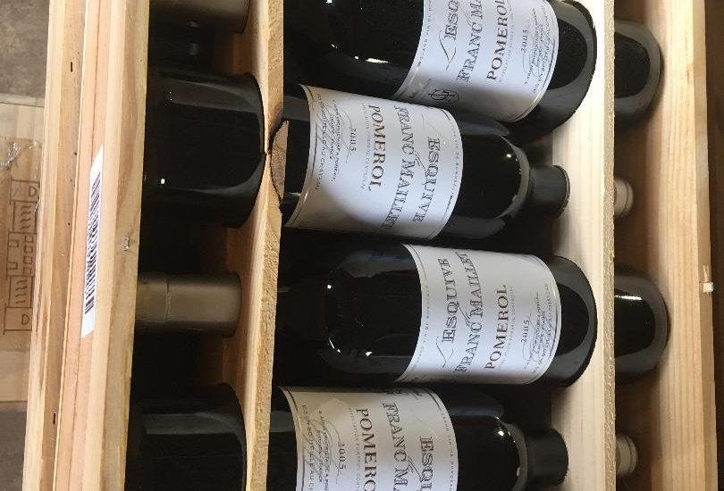 Chateaux Franc Maillet L'Esquive 2005 Pomerol. Price for wooden Case of 12.