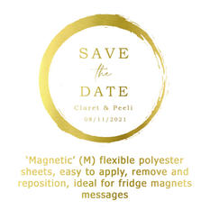 Magnet  'save the date'