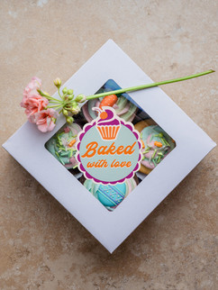 Baked with love & cup cake box