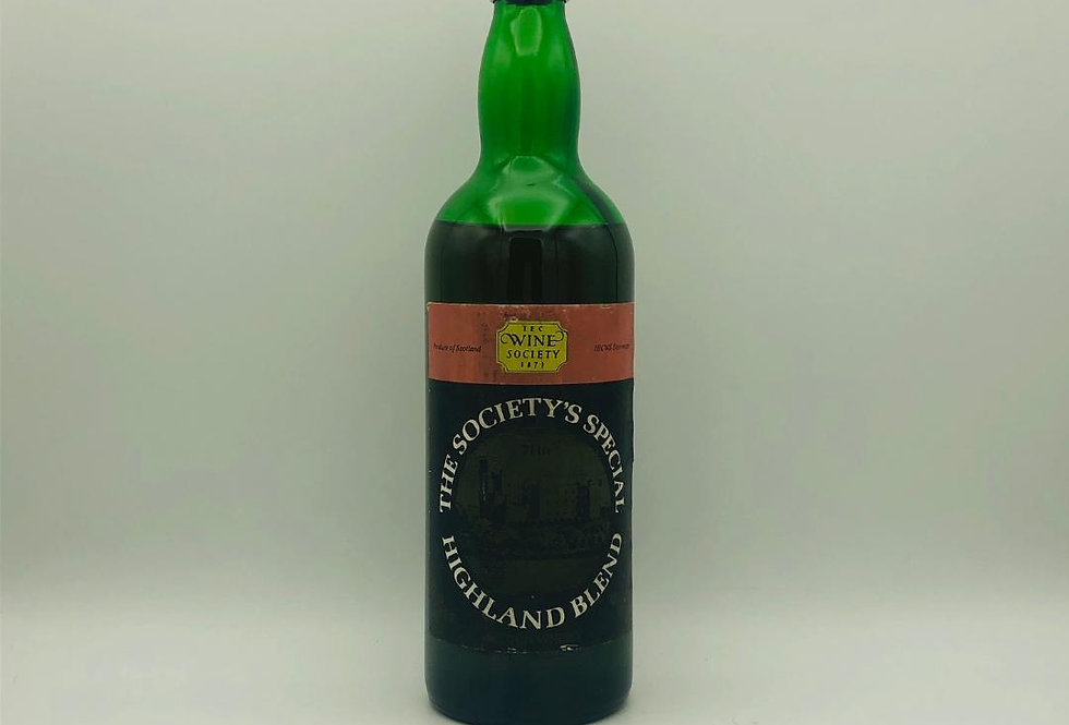 Whisky :  Highland Blend Scotch Whisky 1970's Wine Society Bottling