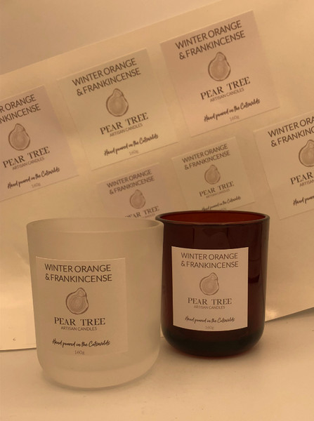 Pear tree candles