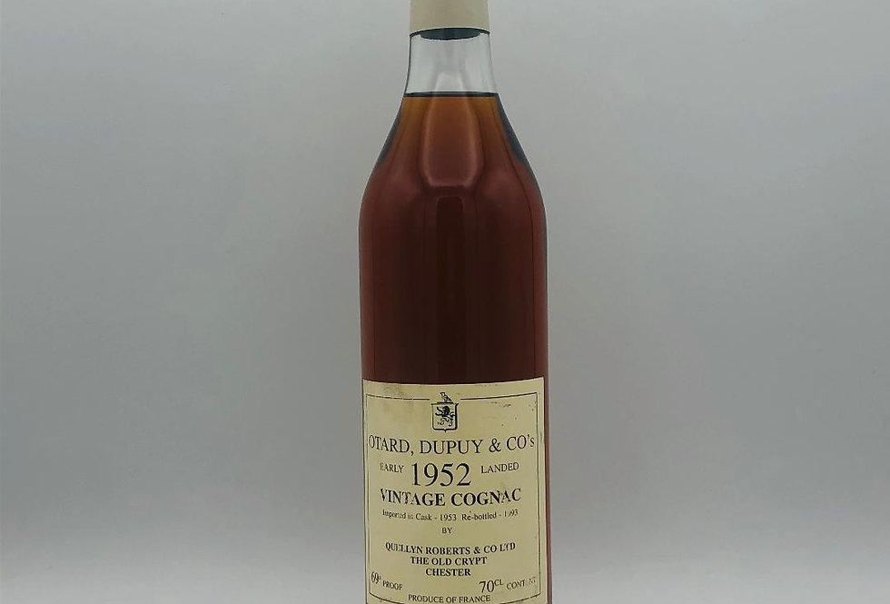Brandy : Cognac Otard Dupuy & Co 1952 Vintage Cognac