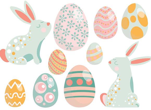 Easter Bunnies & Eggs sticker pack