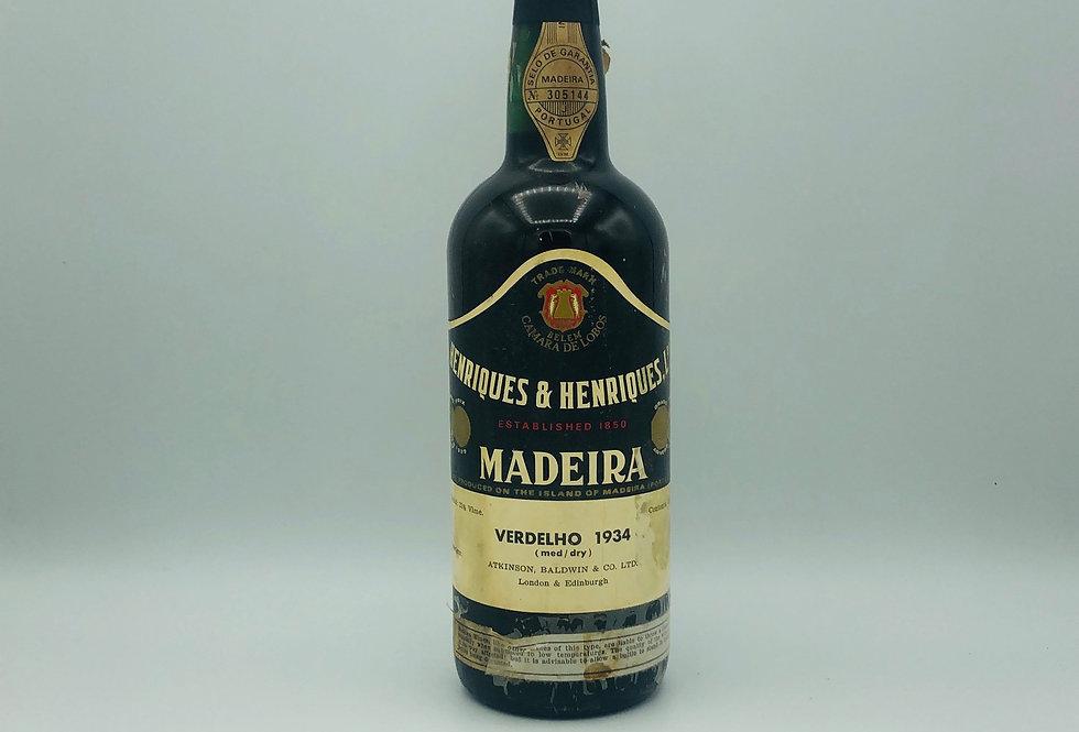Henriques & Henriques 1934 Verdelho Madeira