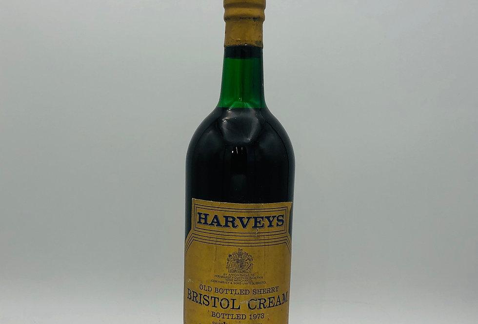 Sherry : Harveys Jerez-Xérès-OLD Bottled Sherry Bristol Cream Bottled 1973