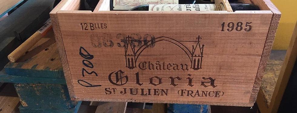Bordeaux : Chateau Gloria St Julien 1985 Price for wooden case of 12