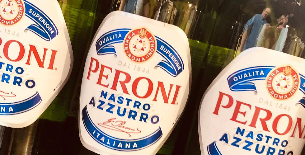 Peroni £1.50 each, sold by the case of 24