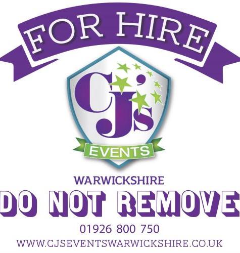 CJ's For Hire sticker - designed in-hous