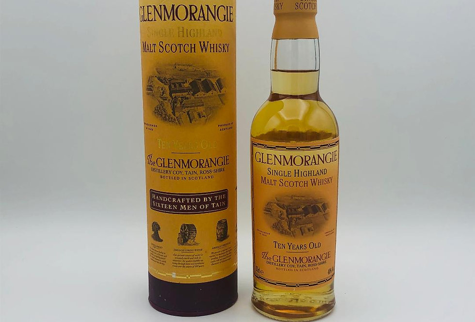 Whisky : Glenmorangie 10 years old, half bottle, Single Highland Malt Whisky