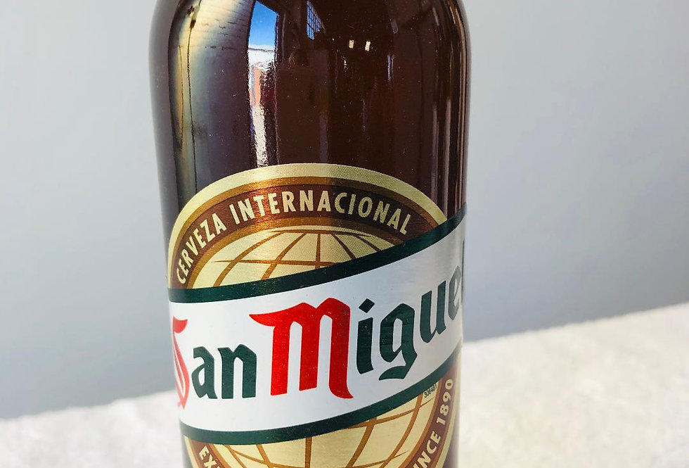 San Miguel £1.50 each sold by the case of 24