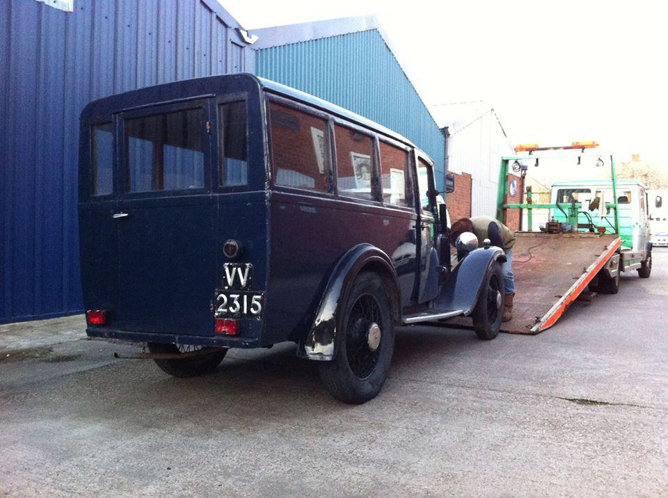 Navy blue Austin van-brought by mistake!