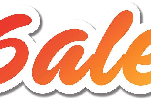 Sale window signs 'Peeli style' choose size