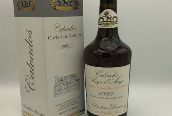 Brandy : Christian Drouin Calvados Pays d'Auge 1993