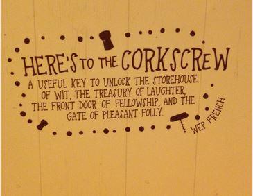 Corkscrew wise words