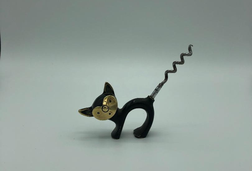 Cat brass 1954 corkscrew, made in England