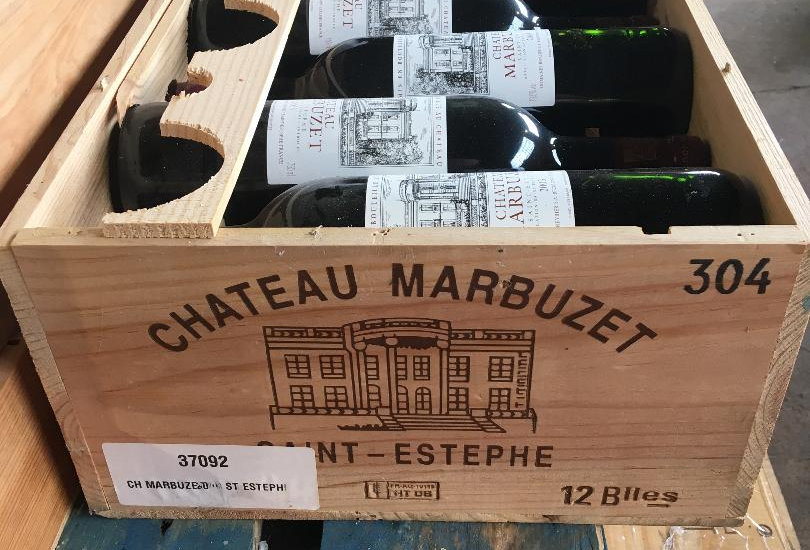 Chateau Marbuzet 2003 Sainte Estephe. Price for wooden Case of 12