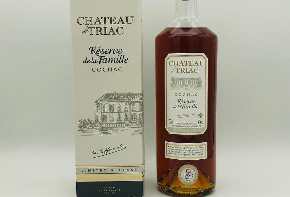 Brandy : Cognac Chateau de Triac Reserve de la Famille Tiffon