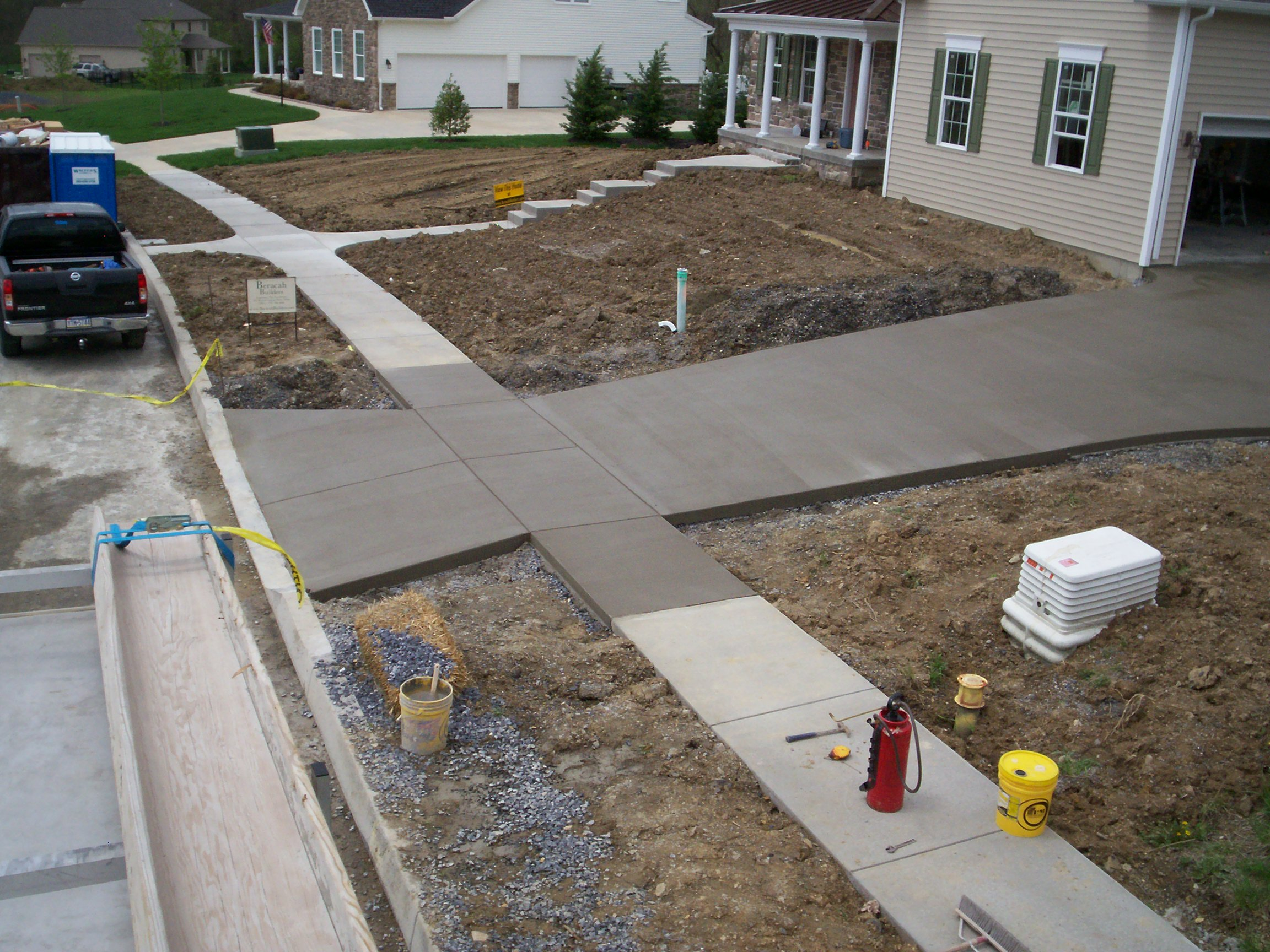 Sidewalk Residential Hershey PA C&S Concrete