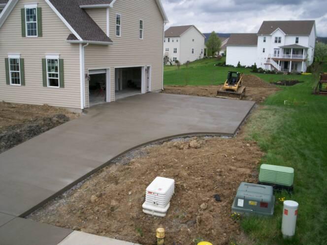 Concrete Driveway C&S Concrete Hershey PA