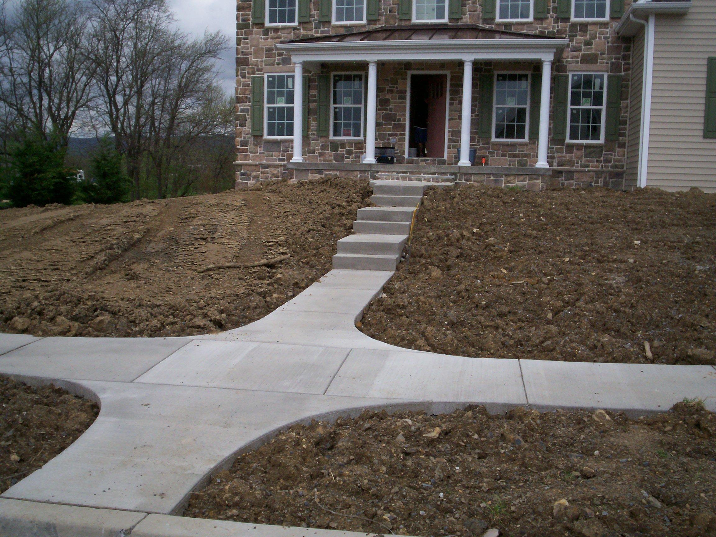 Residential Sidewalk Hershey PA C&S Concrete