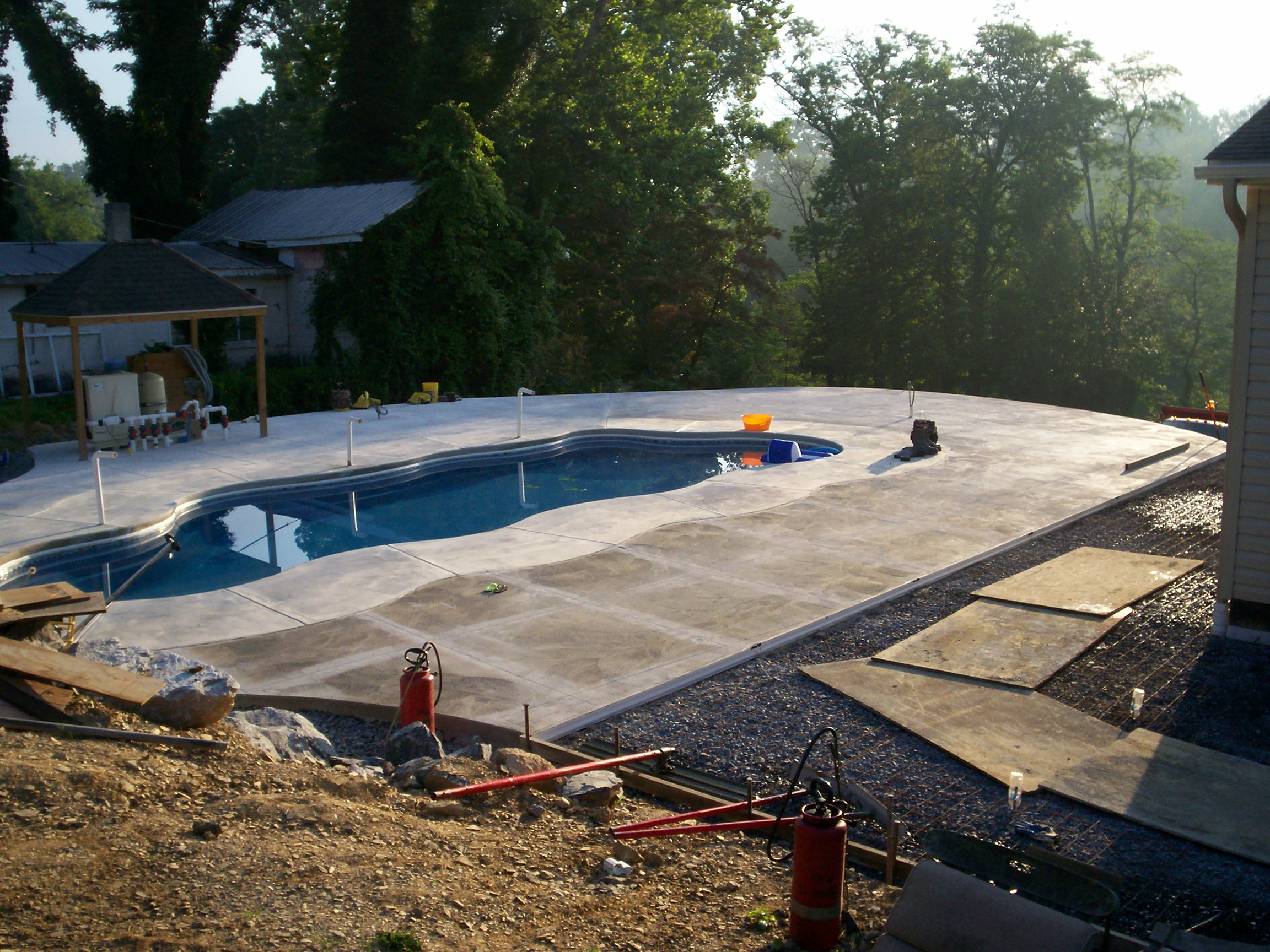 Concrete Pool C&S Concrete Hershey PA