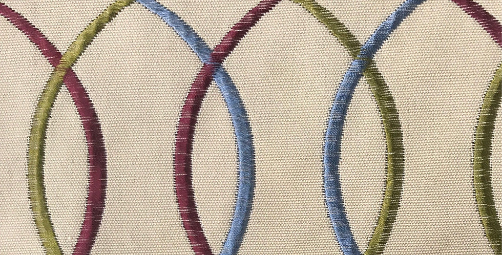 Interlocking Embroidered Fabric