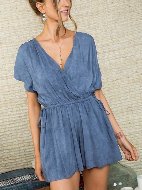 Faded Navy Romper