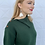 Thumbnail: Collared Knit Sweater Top Forest Green