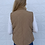 Thumbnail: Reversible Quilted Sherpa Vest Tan