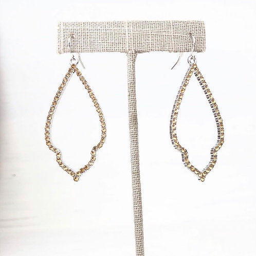 Gold Rhinestone Kendra Earrings