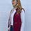 Thumbnail: Reversible Quilted Sherpa Vest Wine