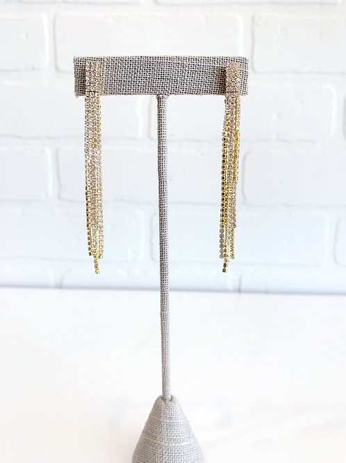 Gold Sparkly Drop Earring