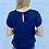 Thumbnail: Navy Layered Sleeve Blouse