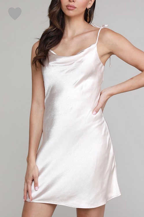 Champagne slip dress