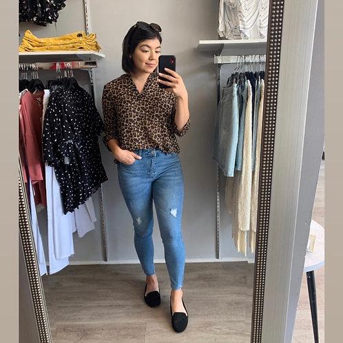 Sheer Leopard Blouse