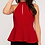 Thumbnail: Red Strappy Peplum Top