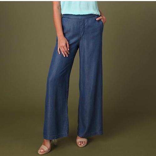 Wide leg tencil pants