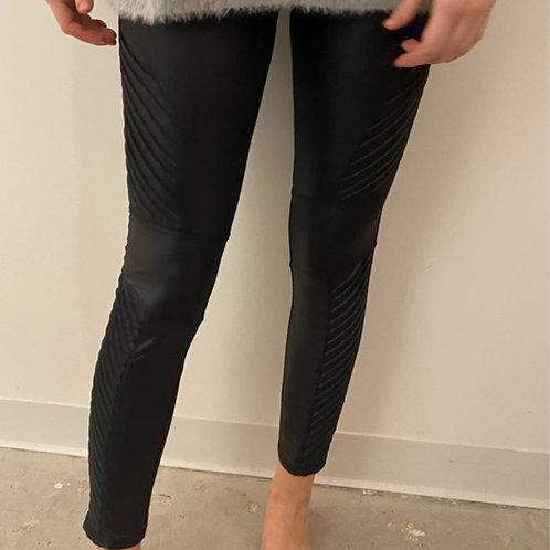 Leather Black Moto Leggings