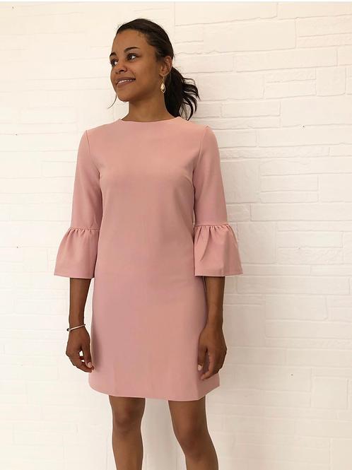Pink Bell Sleeve Shift Dress