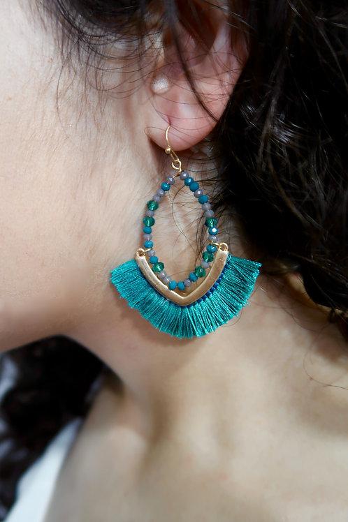 Turquoise Fringe Drops
