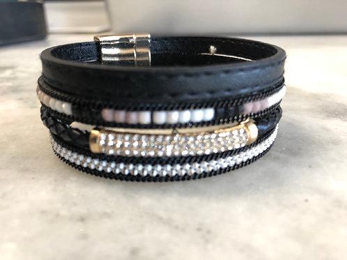 Leather Beaded Bracelet