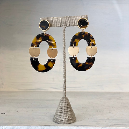 Brown gold acrylic Earrings