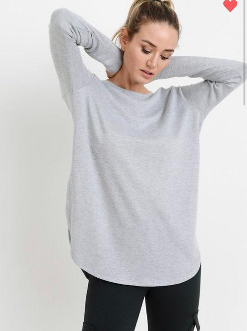 Long sleeve side slit tunic