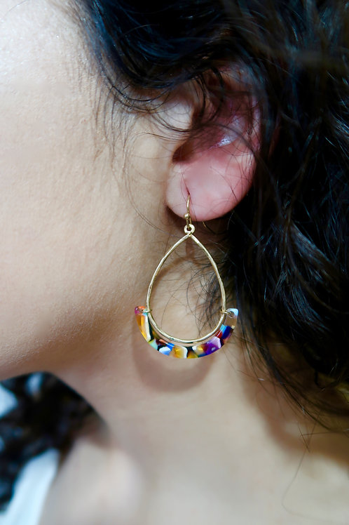 Multi Color Teardrop Earrings
